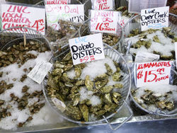 Pike Place Market is an impressive showcase for the bounty of Seattle's fresh seafood.