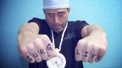 "Salzhauer strikes a faux-gangster pose during his latest video, a Justin Bieber spoof titled ""If I Was Your Surgeon."""