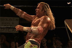 Rourke in The Wrestler