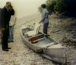 Tucker was presumed drowned in 1982 after his canoe washed ashore on Lake Michigan.