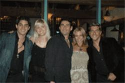 Celebrating at the Olvidarte Jamás wrap party,  from left: Daniel Elbittar, Sonya Smith, Gabriel Porras,  Martha J. López, and Paulo Quevado