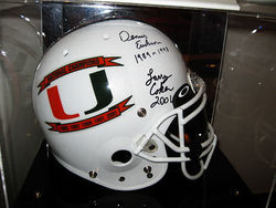 Nevin Shapiro displayed this autographed Hurricanes helmet  in his $6 million  mansion.