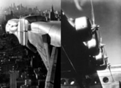 She had all the angles: gargoyle and propellers by photographer Margaret Bourke-White