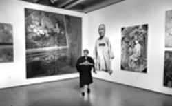 Bernice Steinbaum, surrounded by the monumental aspects of her collection