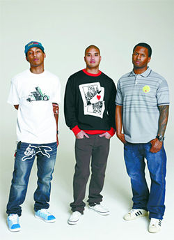 The three megatalents of N.E.R.D. check their egos at the door.