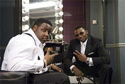 Jamal Woolard (left) and Derek Luke
