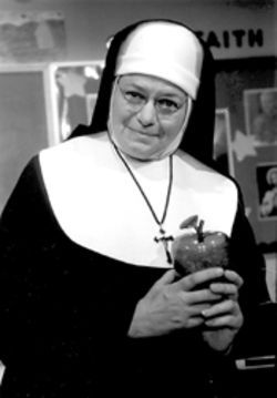 Kathleen Stefano as the prying nun
