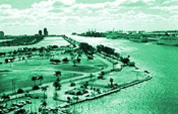 Port of Miami-Dade officials covet Watson Island, the former home of the Goodyear blimp, to dock  more cruise ships