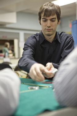 Maxwell Fritz at a charity poker event February 17.