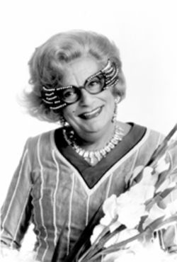 Portrait of a Lady: Dame Edna Everage and her gladioli