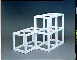LeWitt's Open Geometric Structure 2-2, 1-1