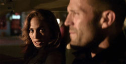 Jennifer Lopez and Jason Statham in Parker.