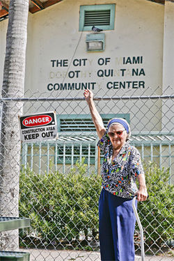 Activist Dorothy Quintana is a spunky 98-year-old. The city named a community center in her honor and then never bothered to fix it.