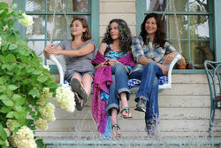 Elizabeth Olsen (left), Jane Fonda, and Catherine Keener