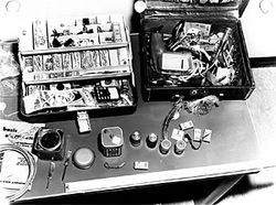 FBI evidence photos document bomb-making supplies found in a Weather Underground safe house in Nob Hill in 1971.
