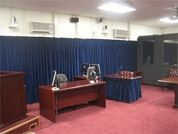 The military commissions room