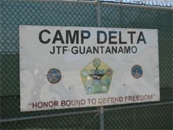 Entrance to Camp Delta