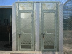 Detainee showers in Camp 2