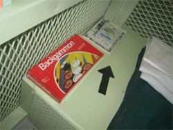 "Board games and books are among the ""comfort items""  detainees receive"