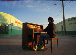 The life of a pianist-errant can be lonely in Miami.