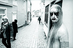 Peter Beste&#039;s 2002 portrait of Kvitrafn of Gorgoroth.