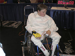 Jason was the only teenage wheelchair fencer competing at the nationals