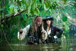 The swashbuckling team of Johnny Depp and Pen&amp;eacute;lope Cruz in Pirates of the Caribbean: On Stranger Tides