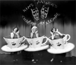 Here are little teacups, tall not stout, singing nostalgic tales of the big city
