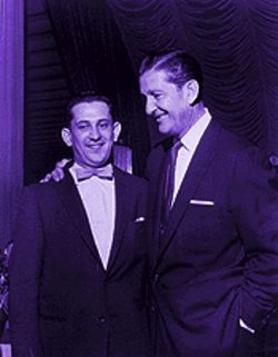 Li'l Wally with band leader and television star Lawrence Welk