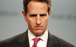Tim Geithner claims the government was blindsided last year but now can see. Critics say he needs glasses.