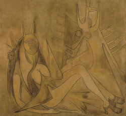Wilfredo Lam&#039;s Leda and the Swan