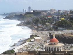 La Perla, a slum infamous for its drug trade, is sandwiched between Old San Juan and the sea.