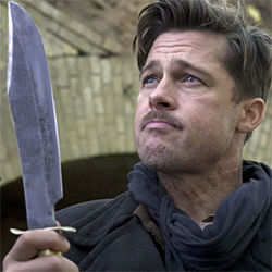 Brad Pitt as Nazi killer Aldo Raine.