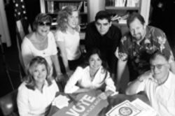The  garage band of democracy do-gooders, clockwise from back left: Marta Gillette, Courtenay Strickland, Franisco Pardo, Dan McCrea, Bud Gillette, Lida Rodriguez-Taseff, and Sandy Wayland.