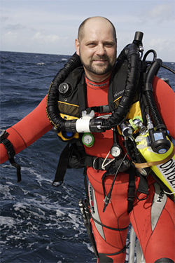 Richie Kohler, a wreck diver from New Jersey, hosts the History Channel show Deep Sea Detectives