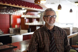 Raúl Galindo, once the Cuban sandwich king of Miami, at his soon-to-open restaurant in east Little Havana.