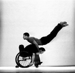CandoCo comprises eight dancers, four of whom  are physically challenged