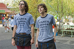 Martin Starr (left) and Jesse Eisenberg