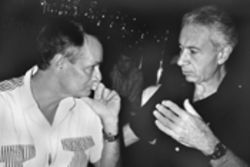 At a 1995 conference, former Cuban counterintelligence chief Fabian Escalante (left) dissected events leading up to November 22, 1963, with investigator Gaeton Fonzi