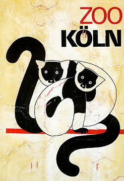 The Cologne Zoo logo: They apparently have lemurs