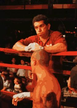 Roberto Quesada trained amateur boxers in Cuba and has trained pro fighters in Miami for the past ten years