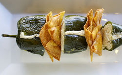Smoked-marlin-stuffed poblano. View our Route 9 slide show.