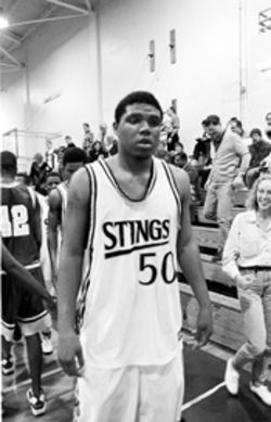 Udonis Haslem during his rule-breaking, ill-fated senior year as a Miami High Stingaree