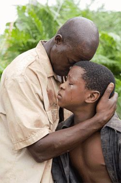 Djimon Hounsou (left) cannot save this film from its cornball script