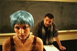 Stephanie Vella (foreground) plays Janie with deadpan bravado