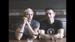 Sex columnist Dan Savage (right) and his husband Terry Miller (left) appear in the inaugural It Gets Better video.