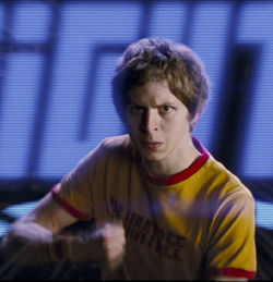 Michael Cera in Scott Pilgrim vs. the World.