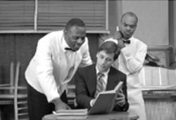Paul Bodie (left), John Bixler, and Rodney Gardiner in  a tale of racism