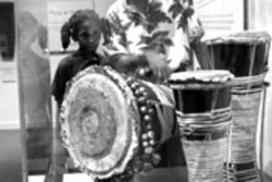 The museum initiates a new generation into the mysteries of African percussion
