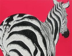 Alexandra Spyratos&#039;s paintings of herding zebras